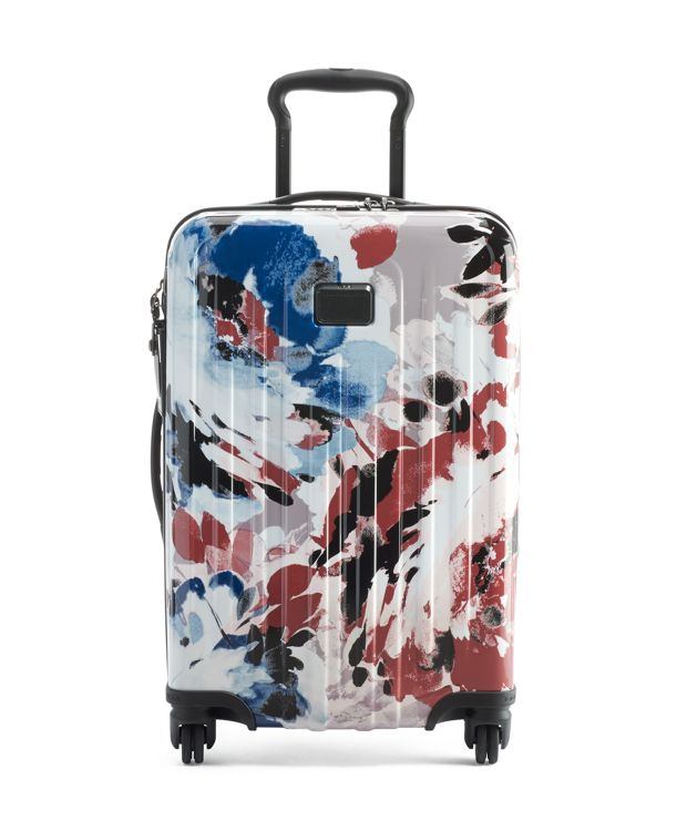 International Expandable 4 Wheeled Carry-On in Blush Floral