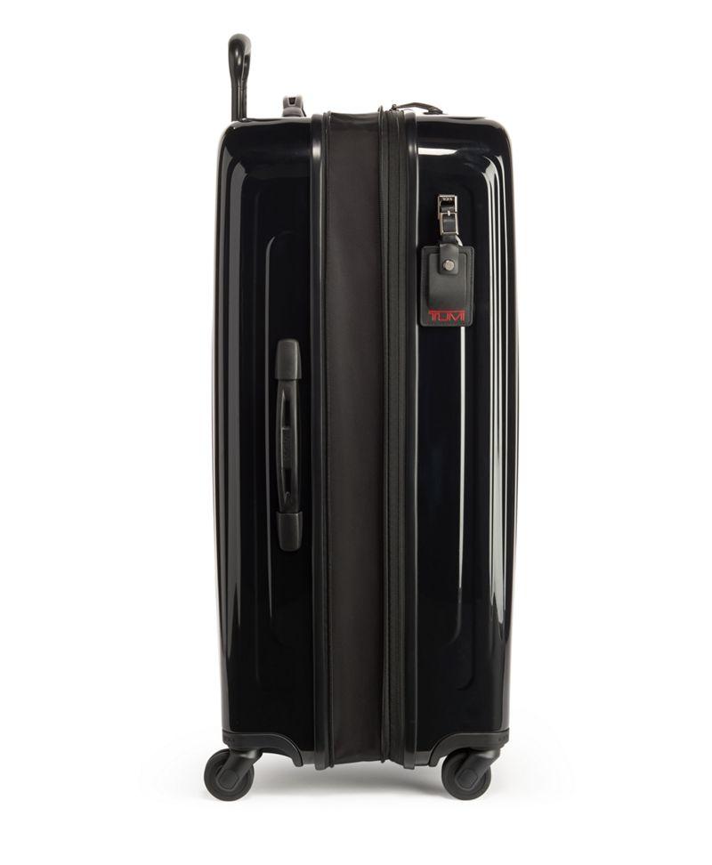 黑可擴充長途四輪寄艙行李箱