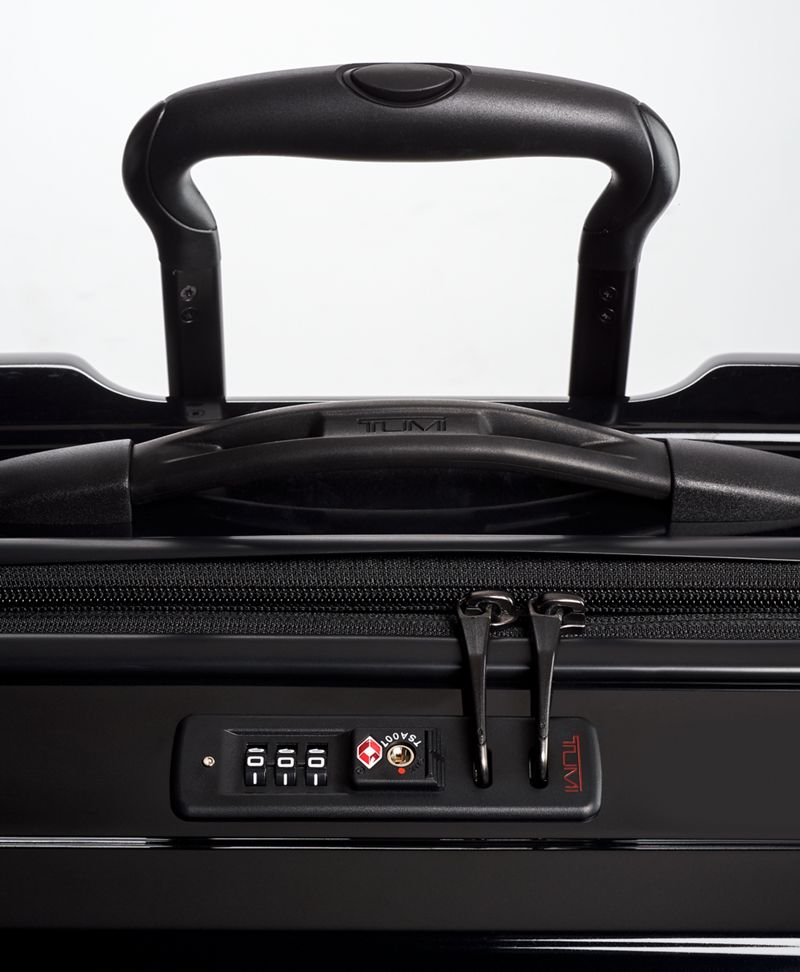 Black Extended Trip Expandable 4 Wheeled Packing Case