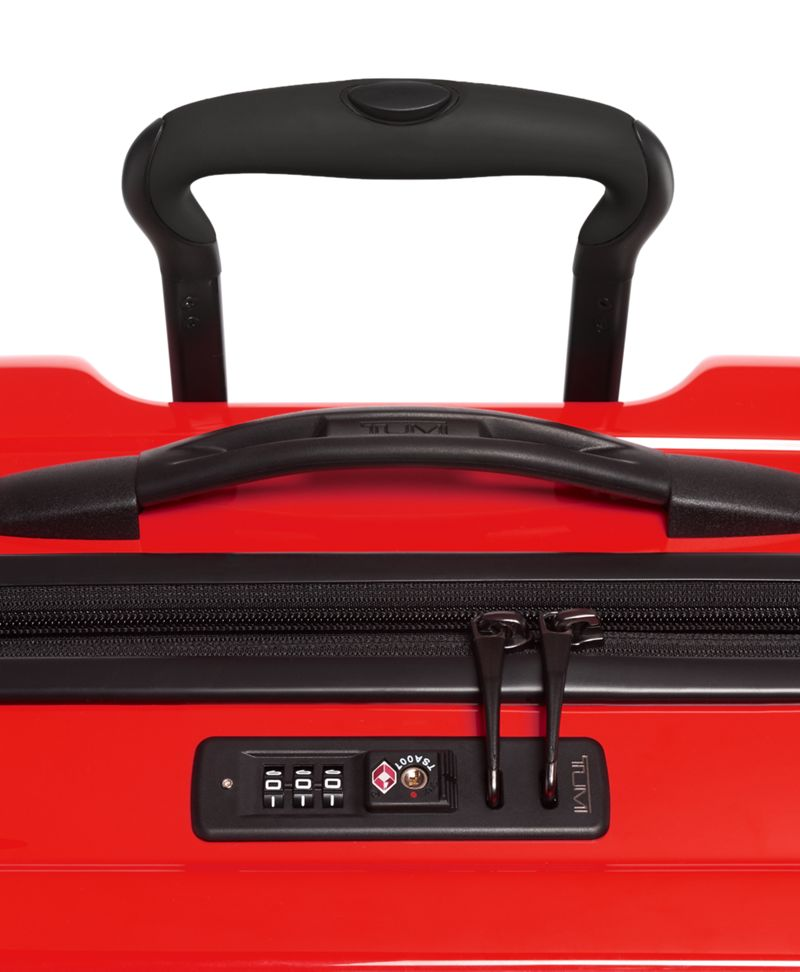 Bright  Red Extended Trip Expandable 4 Wheeled Packing Case