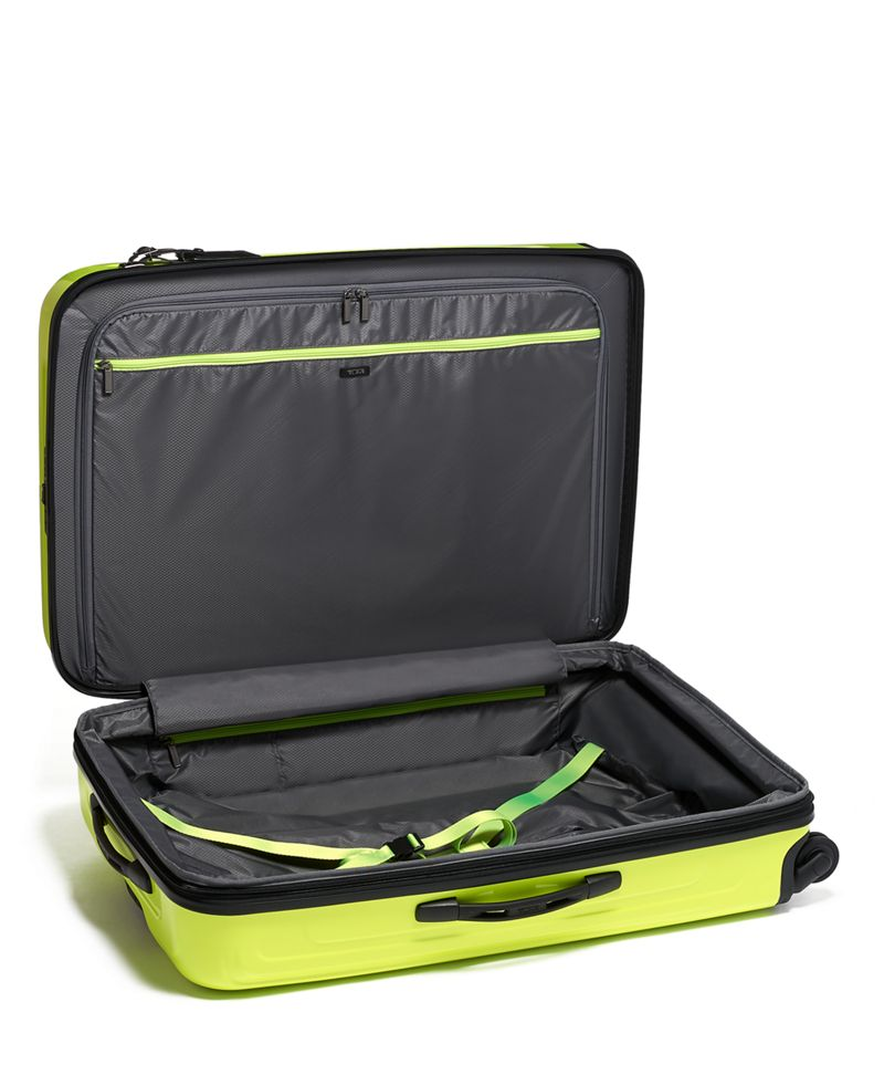 Bright  Lime Extended Trip Expandable 4 Wheeled Packing Case