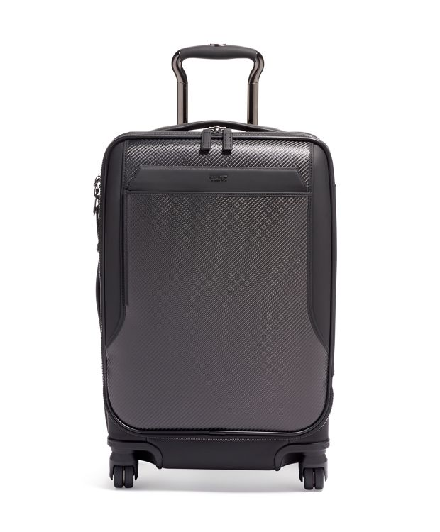 International Dual Access 4 Wheeled Carry-On in Carbon