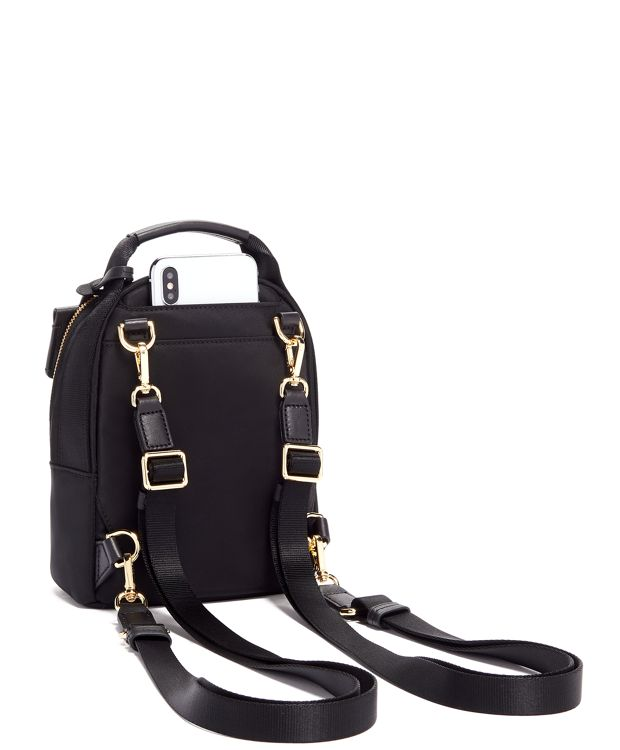 Black Serra Mini Convertible Backpack