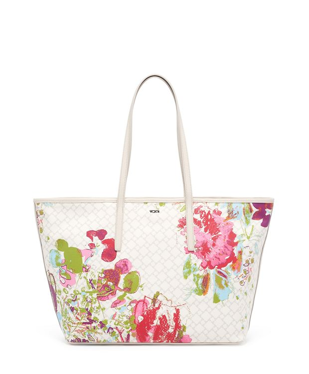 Everyday Tote in Ivory Collage Floral