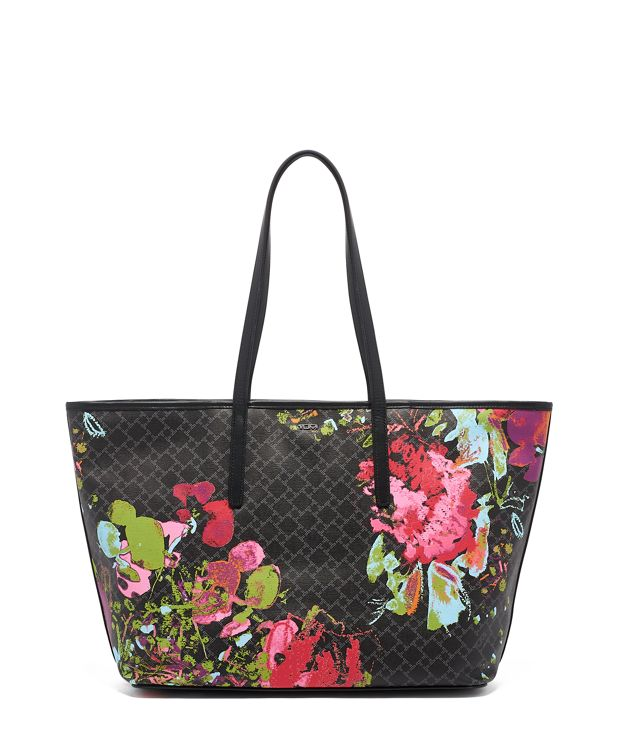 Everyday Tote in Black Collage Floral