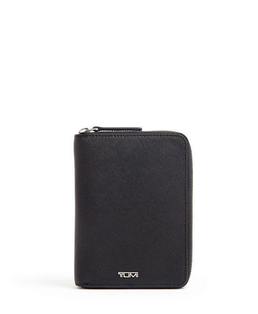 Zip-Around Passport Case in Black