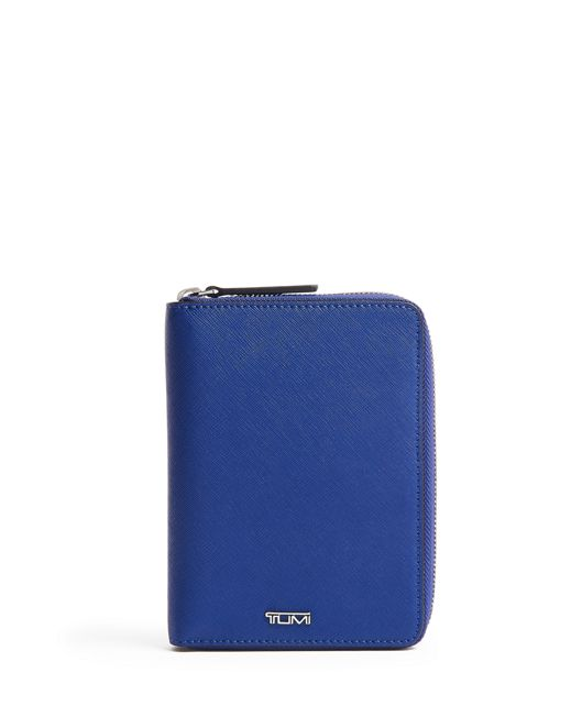 Zip-Around Passport Case in Cobalt