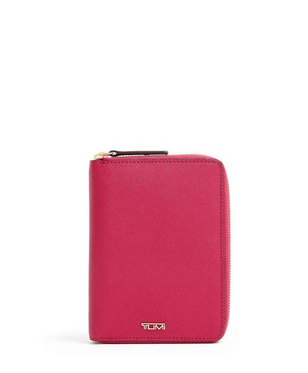 Zip-Around Passport Case in Raspberry