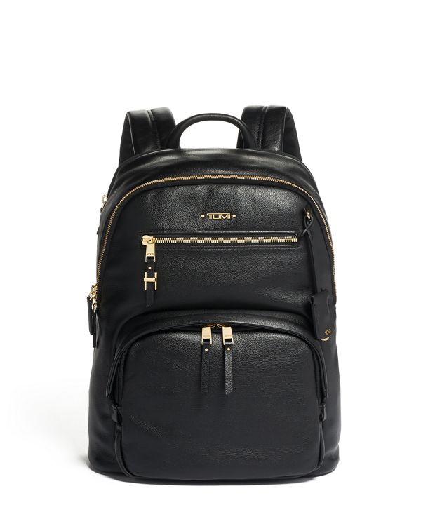 Hartford Backpack Leather in Black