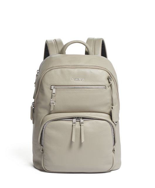 Hartford Backpack Leather in Grey