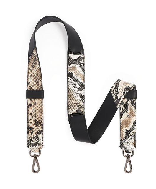 Custom Shoulder Strap in Black Python