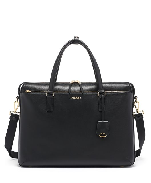 Chandler Business Brief Leather in Black