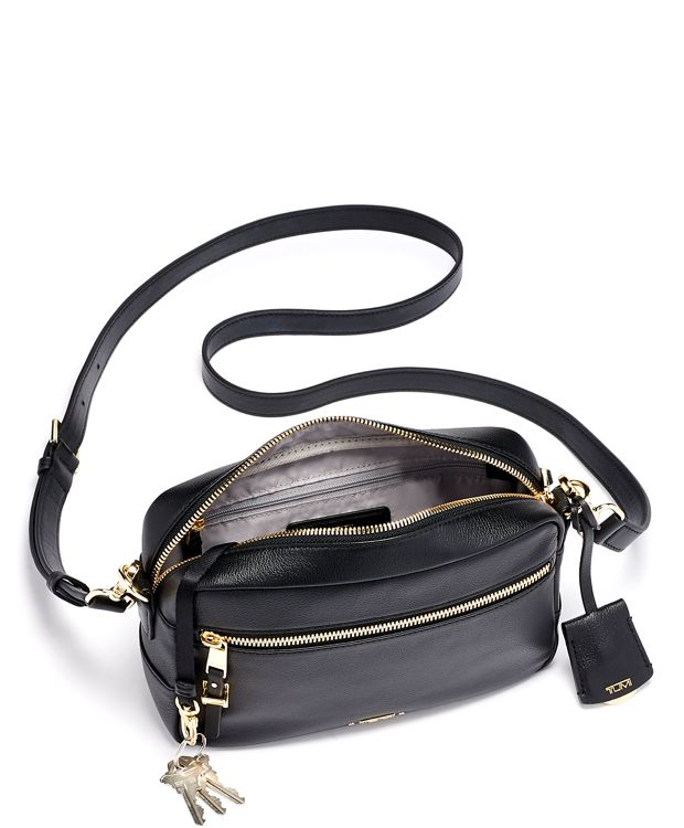 Black Florence Crossbody Leather