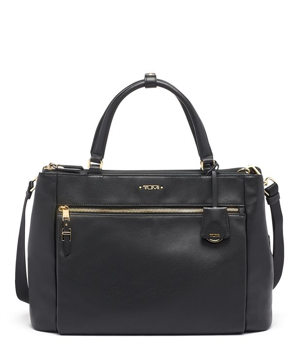 Small Sheryl Business Tote Leather in Black