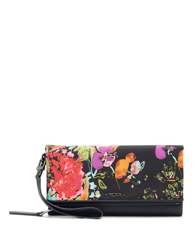 Travel Wallet in Collage Floral