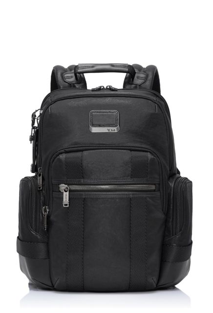 Norman Backpack Leather in Black  Leather