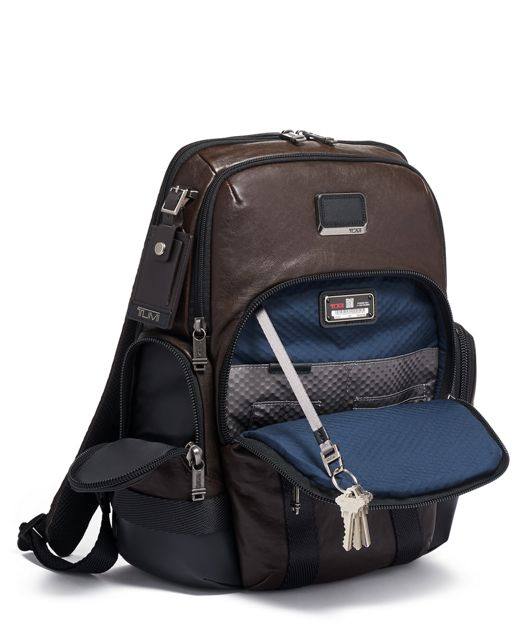 NORMAN BACKPACK DARK BROWN - large | Tumi Thailand