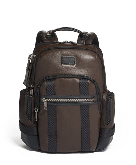Norman Backpack Leather in Dark Brown