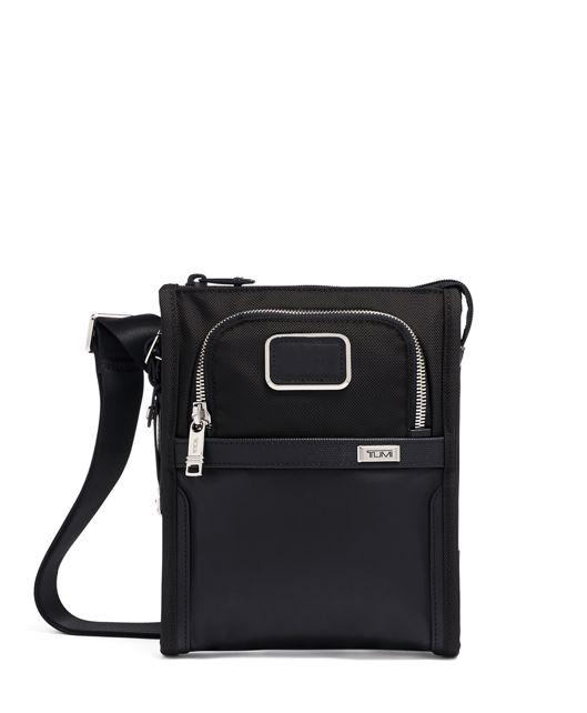 黑色鍍鉻小型口袋斜揹袋