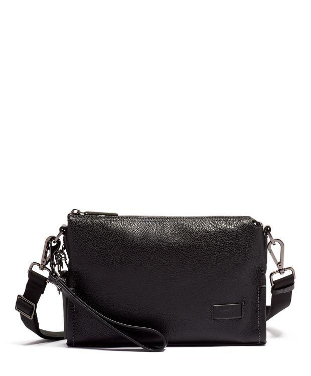 Sterling 皮革斜揹袋 in 黑