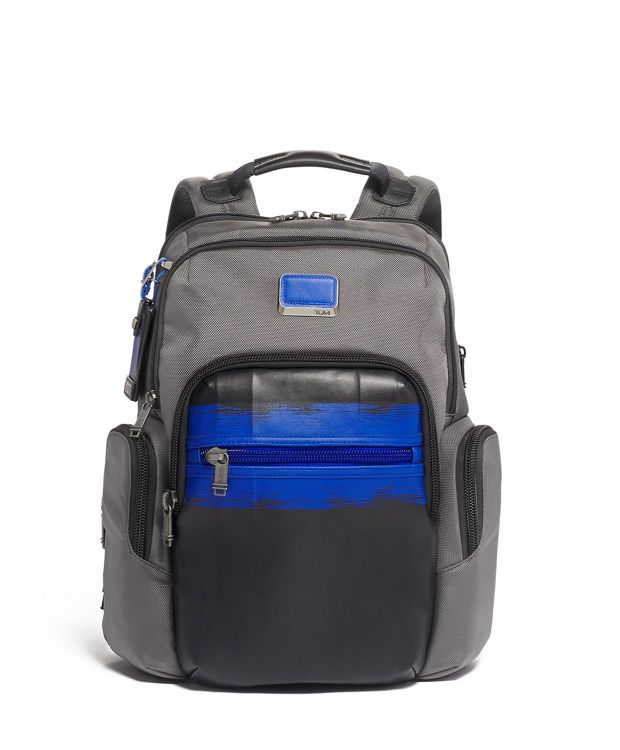Nathan Expandable Backpack in Brushed Blue