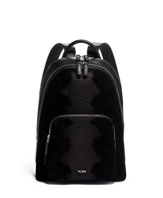 Matteo Backpack in Python Suede