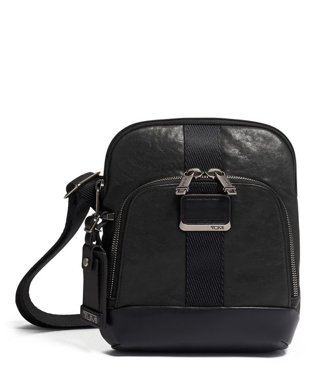 Barksdale Crossbody Leather in Black Leather