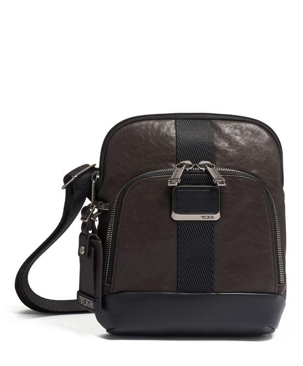 Barksdale Crossbody Leather in Dark Brown