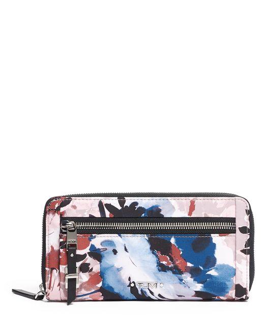 Blush  Floral Zip-Around Continental