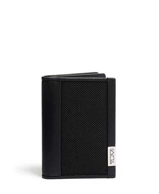Gusseted Card Case in Black Chrome