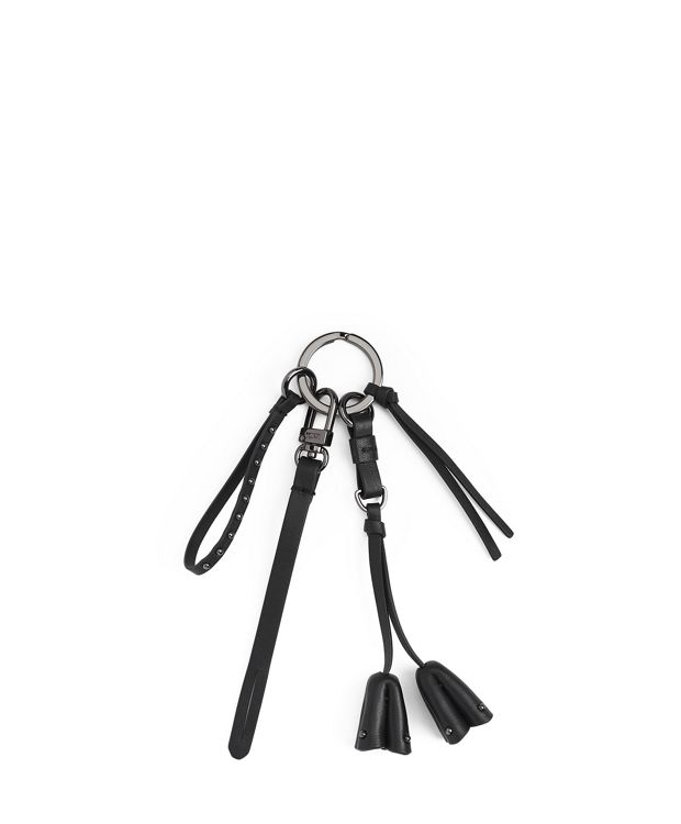 Floral Bell Charm in Black