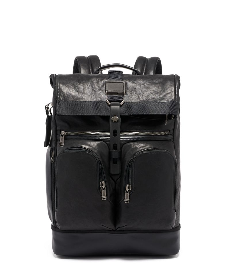 London Roll Top Backpack Leather