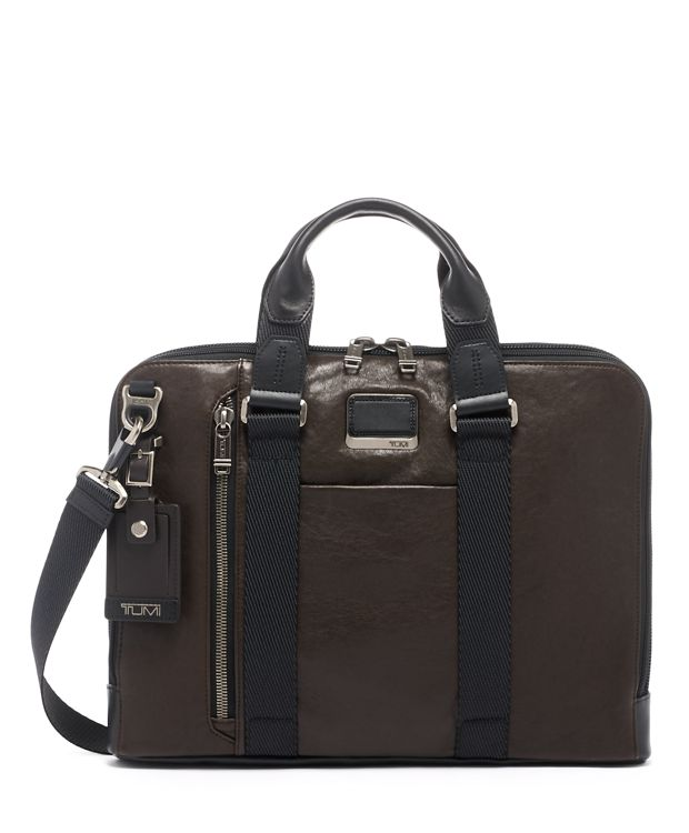 Aviano Slim Brief Leather in Dark Brown