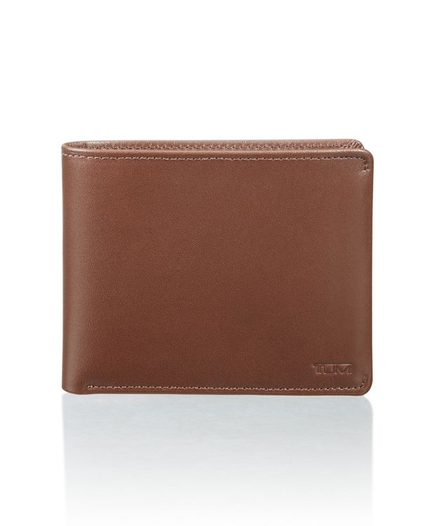 Global Double Billfold in Brown Smooth