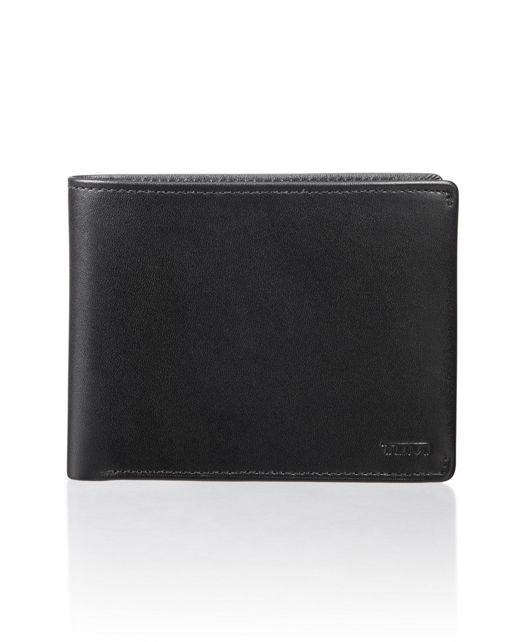 Global Double Billfold in Black Smooth