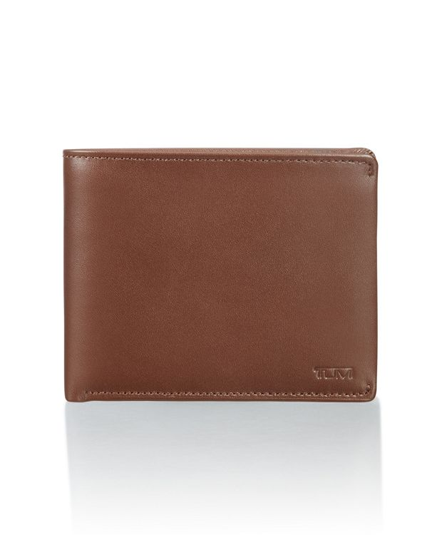 Global Wallet with Coin Pocket in Brown Smooth