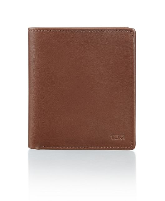 Global Flip Coin Wallet in Brown Smooth