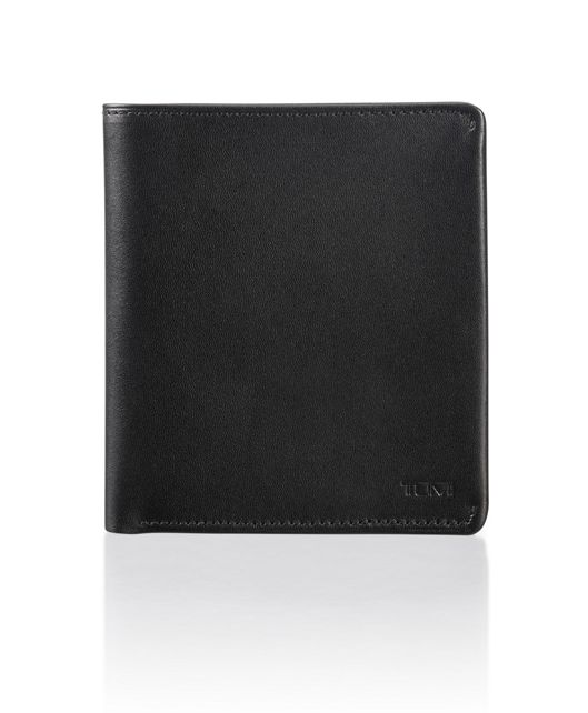 Global Flip Coin Wallet in Black Smooth