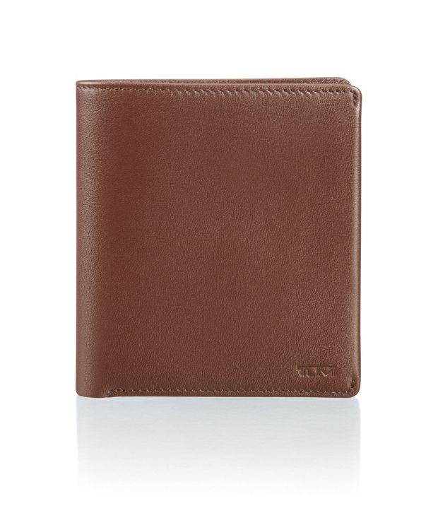 Global Vertical Flip Coin Wallet in Brown Smooth