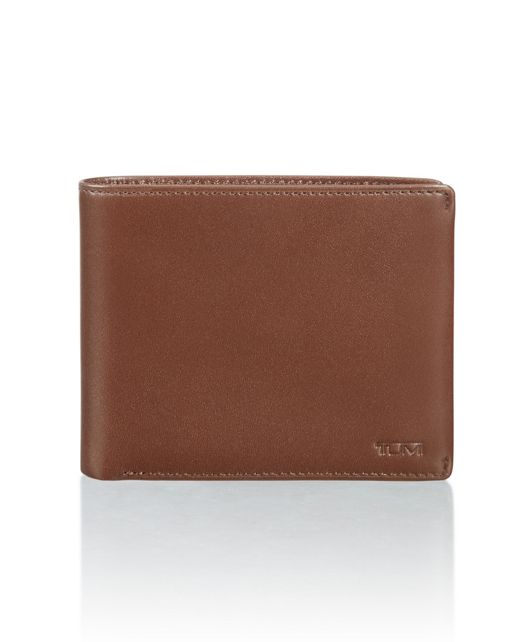 Global Compact Flip Coin Wallet in Brown Smooth