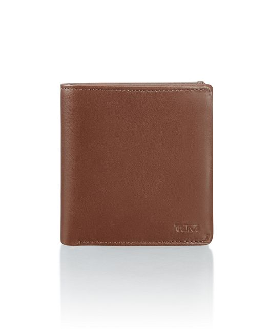 Compact Flip Coin Wallet in Brown Smooth