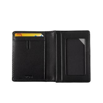 GUSSETED CARD CASE Black Smooth - medium | Tumi Thailand