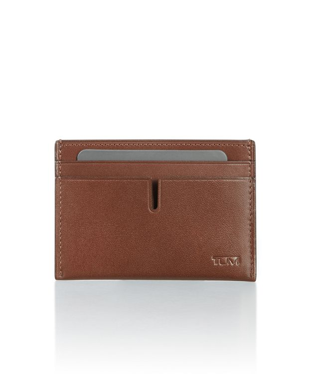 Slim Card Case in Brown Smooth