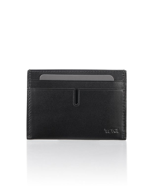 Slim Card Case in Black Smooth