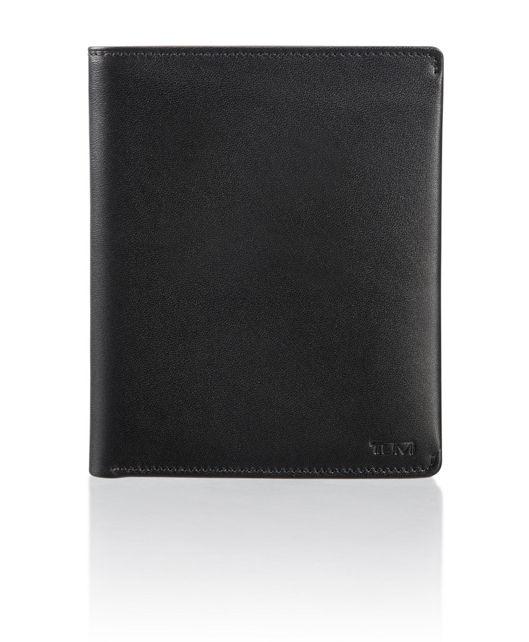 Passport Case in Black Smooth
