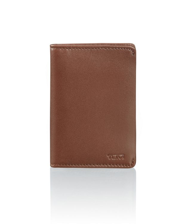 Multi Window Card Case in Brown Smooth