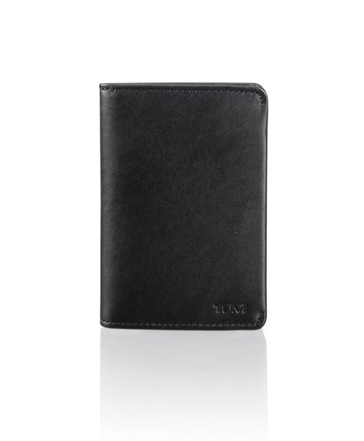 Multi Window Card Case in Black Smooth
