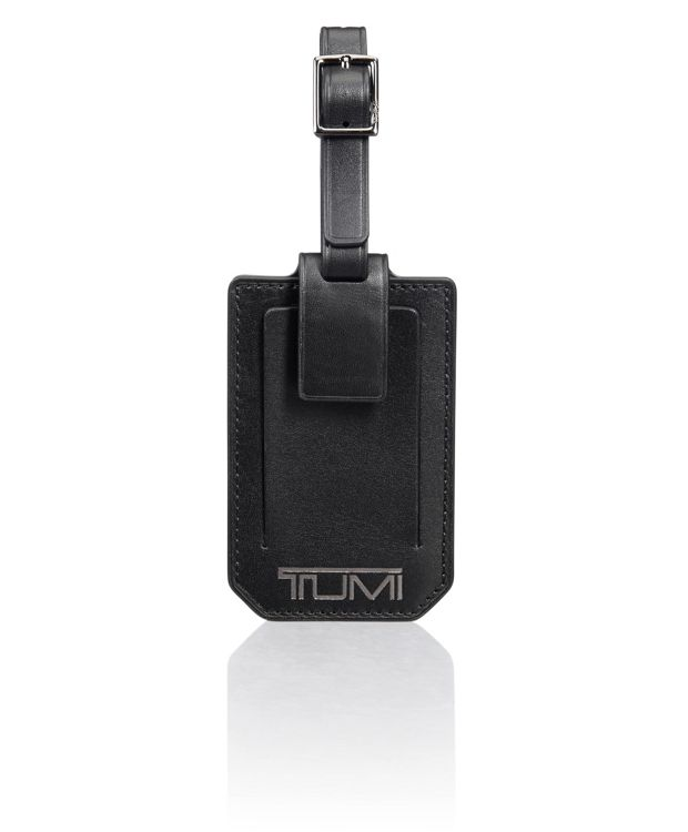 Luggage Tag in Black Smooth