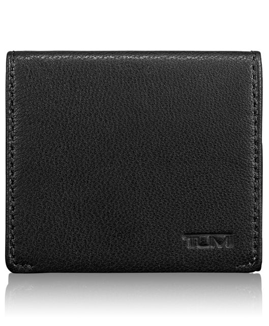 Square Coin Case in Black
