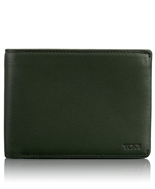 TUMI ID Lock™ Global Double Billfold with ID in Hunter